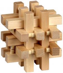 Puzzle logic din lemn Be Clever Cusca