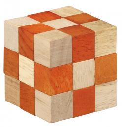 Puzzle logic din lemn Smart Puzzle portocaliu