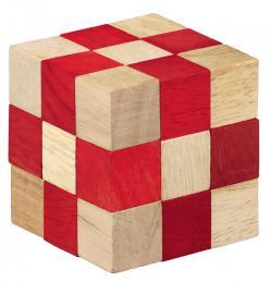 Puzzle logic din lemn Smart Puzzle rosu