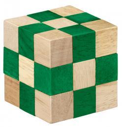 Puzzle logic din lemn Smart Puzzle verde