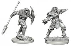 Dungeons and Dragons: Nolzurs Marvelous Unpainted Miniatures - Dragonborn Male Fighter with Spear