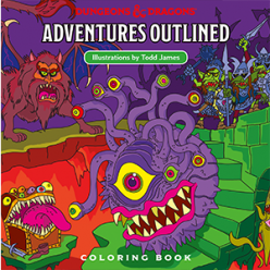 Dungeons and Dragons: Adventures - Outlined Coloring Book