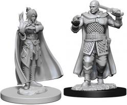 Dungeons and Dragons: Nolzurs Marvelous Unpainted Miniatures - Human Ranger & Moon Elf Sorcerer