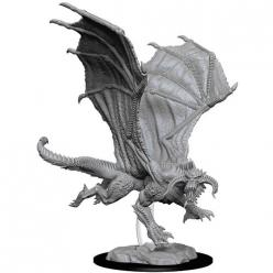 Dungeons and Dragons: Nolzurs Marvelous Unpainted Miniatures - Young Black Dragon