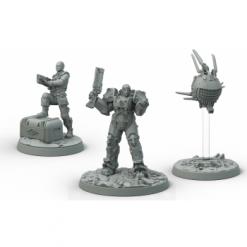 Fallout: Wasteland Warfare - Brotherhood of Steel: Knight-Captain Cade and Paladin Danse